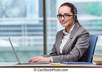 opérateur, concept, téléopérateur, business