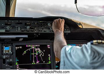 opération, avion, commercial