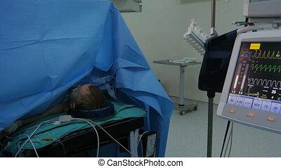 "opération, ""surgery, vue, hospital"", général"