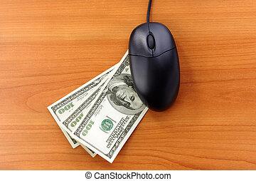 opérations bancaires ligne, ou, achats
