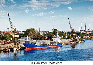 opérations, chargement, port