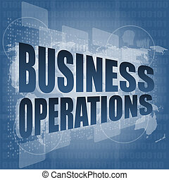 opérations, mot, business, écran, numérique, toucher