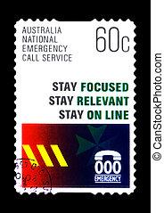 opłata pocztowa, australia, służba, nagły wypadek, tłoczyć, :, krajowy, -, 2010, odwołany, rozmowa telefoniczna, opisywanie, circa, australijski
