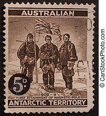 opłata pocztowa, australijski, stamp.