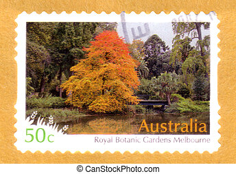opłata pocztowa, botaniczny, australia, tłoczyć, -, królewski, melbourne, opisywanie, odwołany, :, 2007, australijski, circa, ogrody