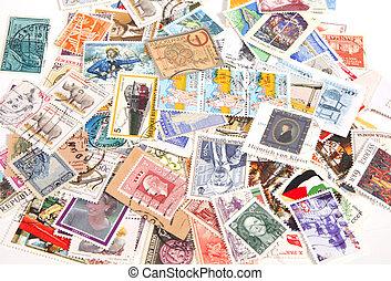 opłata pocztowa, międzynarodowy, pieczęcie