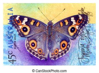 opłata pocztowa, motyl, :, tłoczyć, 1998, odwołany, australijski, circa