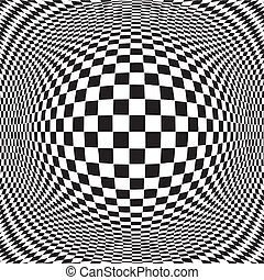 Op Art Design Pattern - Op art design pattern, black and...