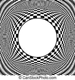 Op Art Design Pattern with Frame - Op art design pattern,...