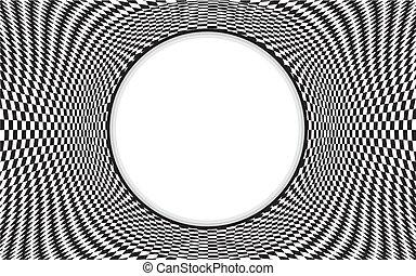Op Art Pattern Frame - Black and white op art design pattern...
