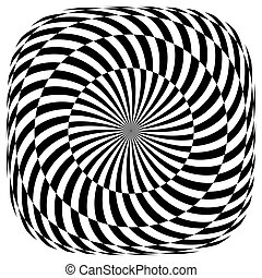 Op art pattern. Rotation illusion. Vector illustration.