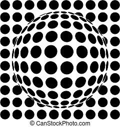 op-art sphere - 3d vector illustration