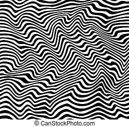 Op Art Stripes in Black and White