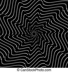 Op art textured backdrop. Vector art.