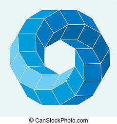 Op art vector illustration abstract 3D format