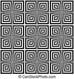 op, arte, geometrico, pattern., seamless