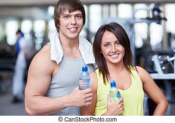 op, de, fitnessclub