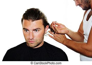op, de, hairdressers