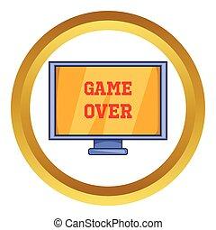 op, scherm, vector, spel, pictogram