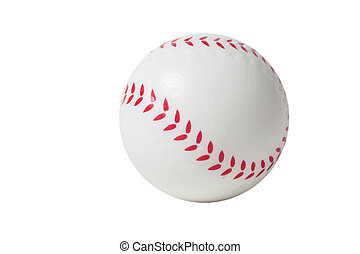 op, speelbal, honkbal, witte achtergrond