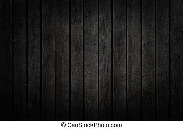 op, textuur, hout, zwarte achtergrond, afsluiten