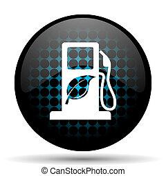 opał, bio, ikona, biofuel, znak