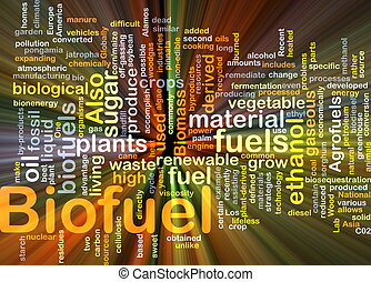 opał, jarzący się, pojęcie, biofuel, tło