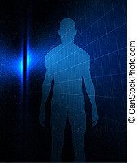 Opalescent man