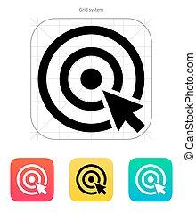 opción, icon., blanco