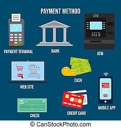opciones, transacción, pago, dinero