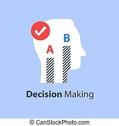 opcje, dwa, decyzja, przegląd, zrobienie, zdanie, poll, między, albo, typować