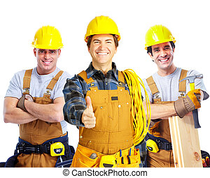 opdrachtnemers, werkmannen , mensen.