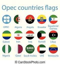 OPEC countries flags