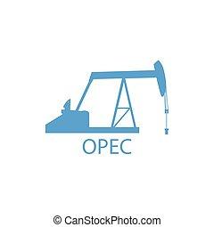 OPEC organization vector - Vector illustration industrial...