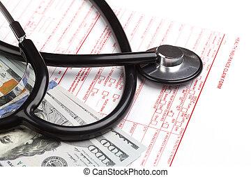 opeisen, gezondheid verzekering, vorm