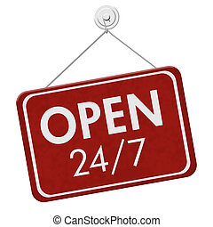 Open 24 / 7 Sign