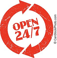 Open 24 hour stamp