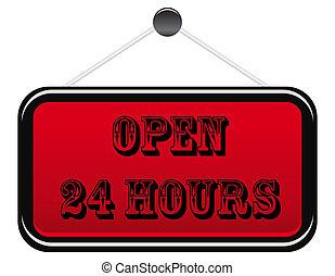 Open 24 hours banner