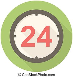Open 24 hours icon