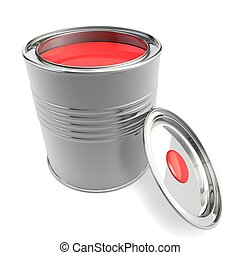 Open a bank with red paint