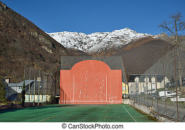 Open-air fronton for Basque pelota - The open-air single...