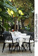 Open-air mediterranean restaurant