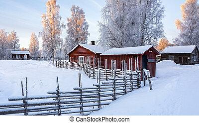 Open-air musem in Gammelstad, Sweden