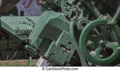 Exhibition of Soviet weapons in the open air in Irkutsk.