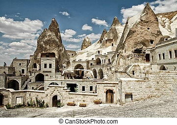 Open air museum in Goreme, Cappadocia, Turkey. Ancient...