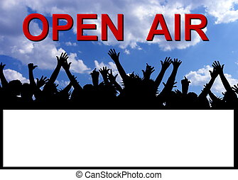 open air party invitation placard