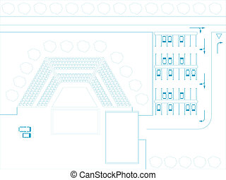 Open air theater - Vector illustration of imaginary open air...