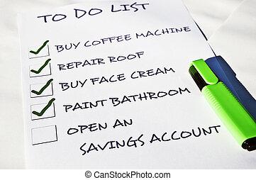 Open an savings account