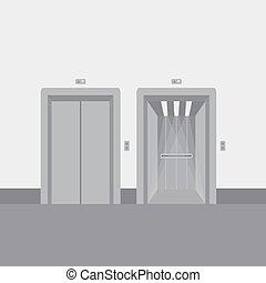 Open and close elevator doors