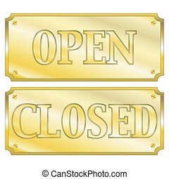 Open and clsoed signs